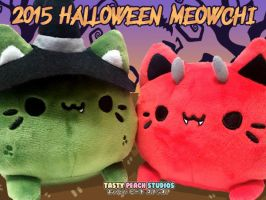 TPS: 2015 Halloween Meowchi Plush Variants by MoogleGurl