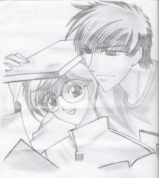 Yukito and Touya by brn2bbad