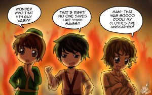 Shadrach, Meschach, and Abednego by shock777