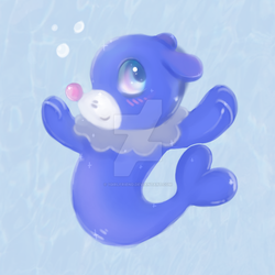 popplio fanart by 1girlfriend
