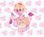 A cute pink demon by gh0stbun