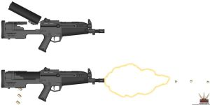 HAC .45 Bull Pup SMG No. 4. by Lugnut1995