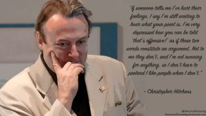 Christopher Hitchens on Being Offended by AmericanDreaming