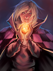 Howl and Calcifer by moni158