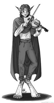 Ainsley and a Violin by psycrowe