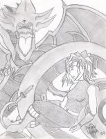The Sorceress and Slifer by JohntheSilver