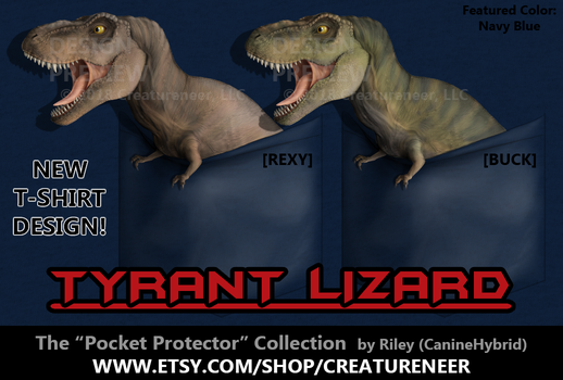 T-Shirt Design: Tyrant Lizard 'Pocket Protector' by CanineHybrid
