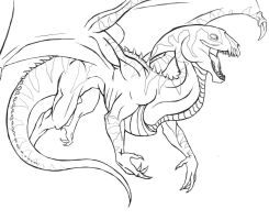 Outline Flying Reptile by KatrineTindlund