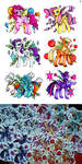 Mane Six Stickers by MadBlackie