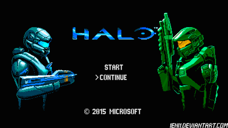 Halo looks like NES game by 1Eni1