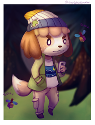 Digby in his casual clothes ANIMAL CROSSING by EarlyBirdWaker