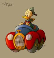 Donald Duck drives 313 by MarioOscarGabriele