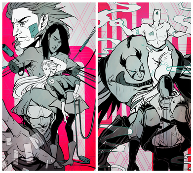 Diptych by klydekiss