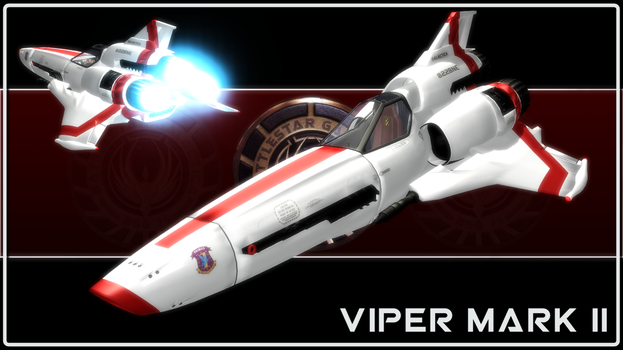 [MMD] BSG Viper Mark II - Model DL by Riveda1972
