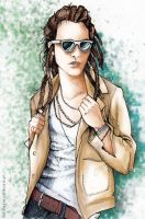 Dreadlocked - Sam Larsen in Color by disco-mouse