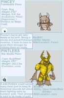 Pincey and Pintlers Fakemon by byona