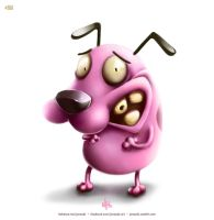Courage the Cowardly Dog! by jonas-dc