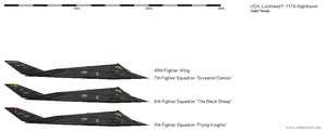 Lockheed F-117A Nighthawk by darthpandanl