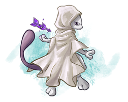 Mewtwo as the Sacred Sister by Pavlovs-Walrus