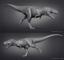 Museum T.rex 01 by Swordlord3d