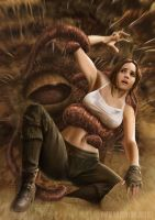 Jyn Erso and The Sarlacc by NinjArt1st