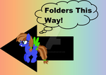 Folders This Way sign by BlueBookWard