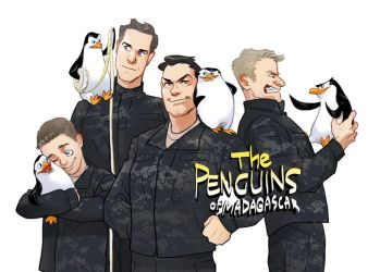 Penguins of Madagascar by Hallpen