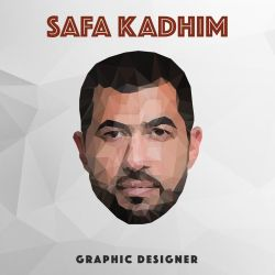 Self-portrait low poly made in Adobe illustrator by safa-kadhim