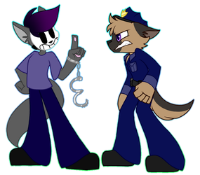 Arlo and Officer O by SpaazleDazzle