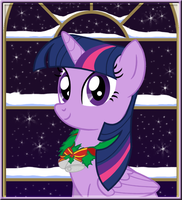 Winter Portrait - Twilight Sparkle by LifesHarbinger