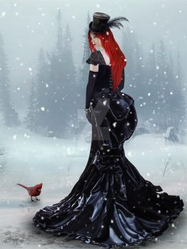 Lady in Winter by MADmoiselleMeli