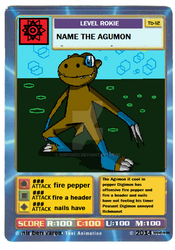 Digimon Digi Battle card the agumon by nirpoke1