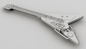 Old Guitar by Wallachia