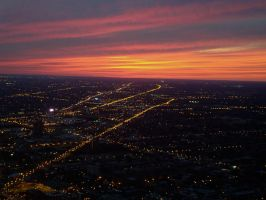 Sunset Over Chicago by neo-solaris