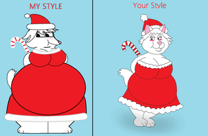Chubby Santa Snowwhite Drawn by Rebow19-64 by Rebow19-64