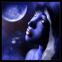 Blue Moon by Nameda by Lilyas