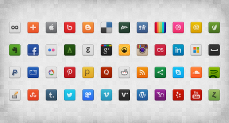 Social Icon Set by gpritiranjan