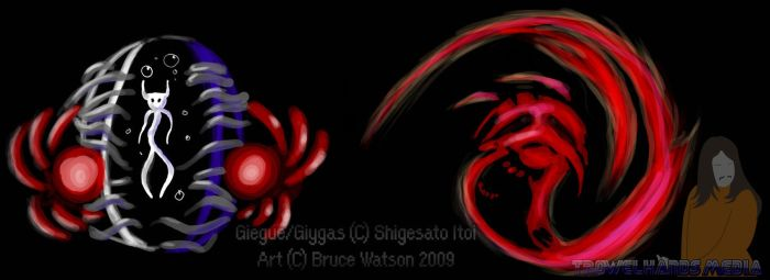 Giegue and Giygas by Trowelhands