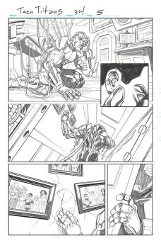 Teen Titans, Sample Art, Page 1 Pencils by Hominids