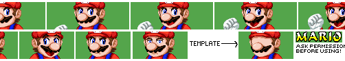 FP Mario Character Select Portrait by DStar99-Sprites