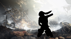 Tomb Raider - Day One Silhouette by JasonCroft