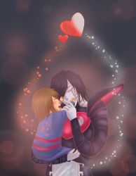 Mettaton and Frisk by Luminent-Soul