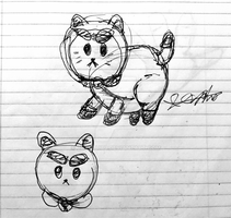 PuppyCat Sketch by Joshtrip1