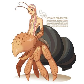 Character Design - Hermit Crab Mermaid by MeoMai