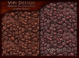 Patterns for photoshop - Coffee beans by elixa-geg