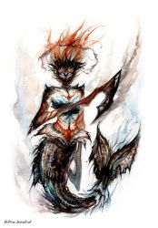 Warrior Mermaid by AkiMao