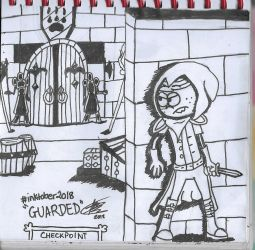 Inktober Day 13 (GUARDED) by RoyalWoodsRooster