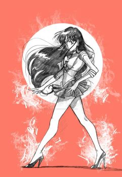 Sailor Mars by Orestes-Sobek
