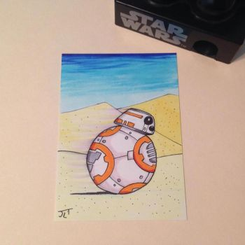 BB-8 sketch card by johnnyism