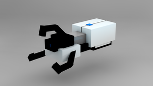 [Cinema 4D] Minecraft Portal Gun by tumbabit